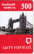 ARMENIA - Tower Bridge(1894)/London-England, ArmenTel Prepaid Card 500 AMD, Sample - Armenië
