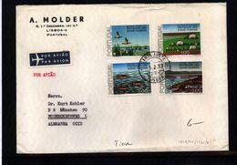 Portugal 1977 Michel 1335-1338 Interesting Letter - Umweltschutz Und Klima