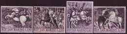 San Marino 1968, Mi 914 - 917. Painting - P. Uccello, Knight's Tournament, Horses, Armor.  MNH ** - Unclassified