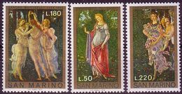 San Marino 1972 Mi 994 - 996. Nymphs, Allegories, Painting A. Botticelli, MNH ** - Unclassified