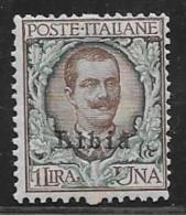 Libya, Scott # 13 MNH Italy Stamp Overprinted, 1915, CV$210.00 - Libya