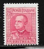 Eritrea, Scott # 155 Mint Hinged Victor Emmanuel Lll, 1931 - Eritrea