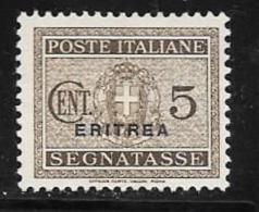 Eritrea, Scott # J15 Unused No Gum Italy Postage Due Overprinted, 1934 - Eritrea