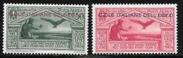 Italy Aegean Islands General, Scott # C4-5 Mint Hinged Virgil Issue, 1930 - Aegean