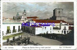 86877 SPAIN ESPAÑA UTRERA ANDALUCIA SQUARE PLAZA DE SANTA ANA Y VISTA PARCIAL BREAK PHOTO NO POSTAL POSTCARD - Fotografie