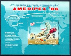 A24- Romania 1986. Ameripex 86. Aviation. - 1948-.... Republics