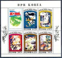 A27- DPR Korea 1980. The Conqueror Of The Universe. Flag. Space. Jet. Animals. - Korea (...-1945)
