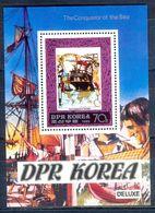 A28- DPR Korea 1980. The Conqueror Of The Sea. Ship. Map. Watch. - Korea (...-1945)