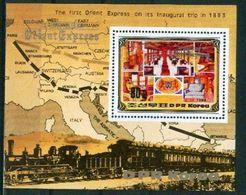 A54- North Korea 1983 Railway. Perforated M.Sheet. - Korea, North
