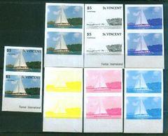 A57- St. Vincent Transport. Ship.  Nature. Color Proof. - Ships
