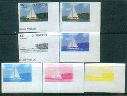A58- St. Vincent Transport. Ship.  Nature. Color Proof. - Ships