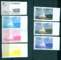 A59- St. Vincent Transport. Ship.  Nature. Color Proof. - Ships