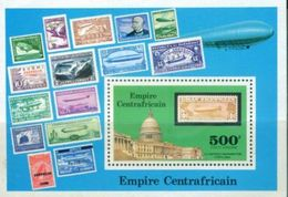 A64- Central Africa. Stamp On Stamp. Air Balloon. - Central African Republic