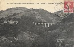 St Saint-Julien-Boutières (Ardèche), Vallée De L'Eyrieux, Le Viaduc Et Hameau De Chapignac - France