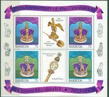 A80-25th Anniversary Of The Coronation Of Queen Elizabeth II. Barbuda. - Royalties, Royals
