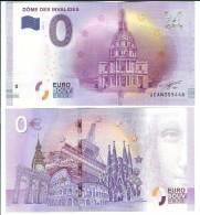 Billet Touristique 0 Euro Souvenir - DOME DES INVALIDES - EURO