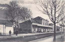 LAU- SAINT PIERRE D'ALBIGNY  EN SAVOIE  LA GARE ET L'ARCLUSAZ E CPA  CIRCULEE - Saint Pierre D'Albigny