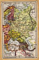Rus131 Carte Géographique RUSSIE 41.5 Millions Hab FINLANDE LETTONIE ESTHONIE LITHUANIE 1920s JEHEBER 19 - Cartes Géographiques
