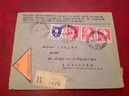 Recommandé Contre Remboursement Rochefort Montagne Pour Issoire JugementTeillot Bellon Laqueuille Gare - 1921-1960: Modern Period