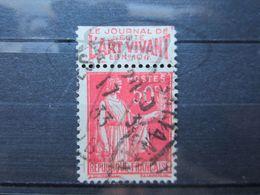 """VEND BEAU TIMBRE DE FRANCE N° 283 , TYPE I + BANDE PUBLICITAIRE """" ART VIVANT """" !!! (v) - Publicités"""