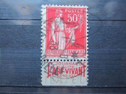 """VEND BEAU TIMBRE DE FRANCE N° 283 , TYPE I + BANDE PUBLICITAIRE """" ART VIVANT """" !!! (aa) - Publicités"""