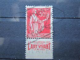 """VEND BEAU TIMBRE DE FRANCE N° 283 , TYPE I + BANDE PUBLICITAIRE """" ART VIVANT """" !!! (am) - Publicités"""