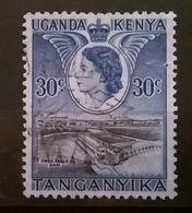FRANCOBOLLI STAMPS UGANDA KENYA 1954 ROYAL VISIT - Uganda (1962-...)