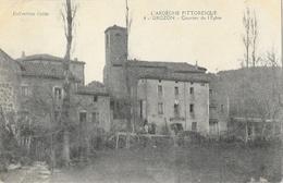 Grozon (l'Ardèche Pittoresque) Quartier De L'Eglise - Collection Colas - France