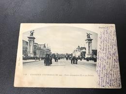 149 - ( PARIS)  EXPOSITION UNIVERSELLE DE 1900 - Pont Alexandre III Et Les Palais - 1900 Timbrée - Expositions