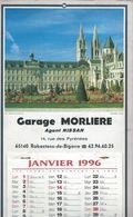 Rabastens De Bigorre - Calendrier 1996 - Garage Morliere Agent Nissan - Calendars