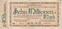 Deutschland 10 Millionen Mark COBLENZ /102G/ - [11] Emissions Locales