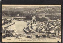 02205.  CHATEAU  THIERRY.LES DEUX PONTS SUR LA MARNE  .  2 SCANS.    EDIT.  J. B - Chateau Thierry