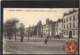 02210.  CHATEAU  THIERRY .LA PLACE DU CHAMP DE MARS. VUE PRISE EN 1914 .  2 SCANS.  EDIT. J. B. - Chateau Thierry