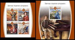 SOLOMON Isl. 2017 - Germanic Composers. M/S + S/S - Salomon (Iles 1978-...)