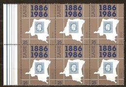Zaire 1986 Yvertn°  1306A X 2, 1306B   *** MNH Cote 11,25 Euro  Centenaire 1e Postzegel Premier Timbre-poste - Zaïre