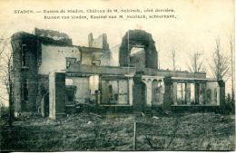 N°58930 -cpa Staden -ruines Château De M. Neirinck- - Staden