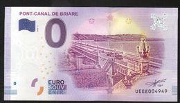 France - Billet Touristique 0 Euro 2018 N°4949 (UEEE004949/5000) - PONT-CANAL DE BRIARE - EURO