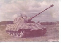 "PHOTO D'ARCHIVES :  CHAR LOURD  "" KÖNIGSTIGER "" Ou "" TIGRE II "" CANON 88mm ( SAUMUR ) - Equipment"