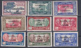 Wallis Et Futuna N° 77 / 85 XX  Partie De Série :Timbres Surchargés Les 9 Valeurs Sans Charnière, TB - Unused Stamps