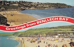 Postcard Greetings From Benllech Bay Multiview PU 1980 My Ref  B11921 - Anglesey