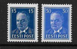 ESTONIE -  N° 142A ** Et 143C ** - Cote : 71 € - Estonia