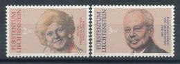 Liechtenstein  N°929 Et 930** Mi N°988 Et 989** Princesse Gina Et Prince François-Joseph II De Liechtenstein - Liechtenstein