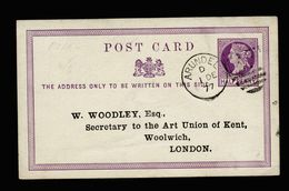 A5139) UK Small Postcard Arundel1.12.1877 With Print - Briefe U. Dokumente
