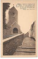 Lobbes.--Entrée De L'Eglise Et Rue De L'Eglise - Lobbes