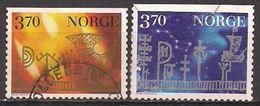 Norwegen  (1997)  Mi.Nr.  1265 X + 1266 X  Gest. / Used  (3ev17) - Gebraucht