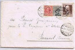 Busta Con Lettera Contenuta Tricesimo (Udine)->Bucarest Viaggiata 7/1927 - Poststempel