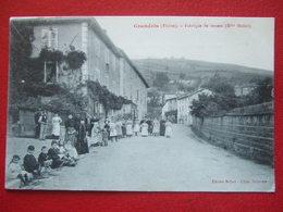 """69 - GRANDRIS - """" FABRIQUE DE CORSETS ( Mlles ) """" - """" RARE """" - - Autres Communes"""