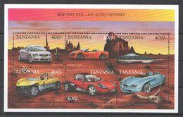 C360 TANZANIA TRANSPORTATION CARS AUTOMOBILES BEYOND 2001 AUTO ODYSSEY 1KB MNH - Autos