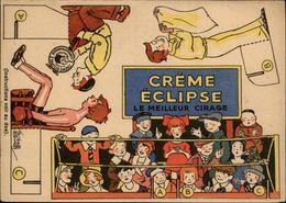 PUBLICITES -  Carte à Découper - CREME ECLIPSE - Cirage - Illustrée Par EDOUARD BERNARD - Boxe - Ring - Publicités