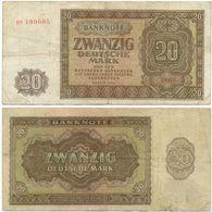 DDR 1948, 20 Mark, Deutsche Notenbank, KN 6stellig, Geldschein, Banknote - 20 Deutsche Mark